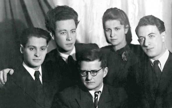 From the left: Dubinsky, Berlinsky, Shostakovich, N. Barshay, R. Barshay