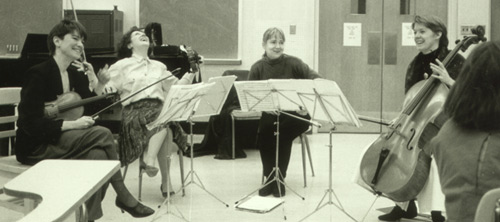 the Lafayette String Quartet visits the String Academy (May 1992)
