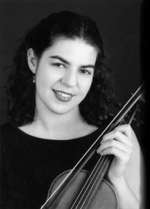 Sarah Kapustin, violin