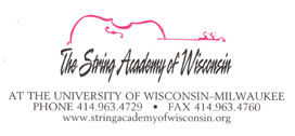 More Information at StringAcademyOfWisconsin.org
