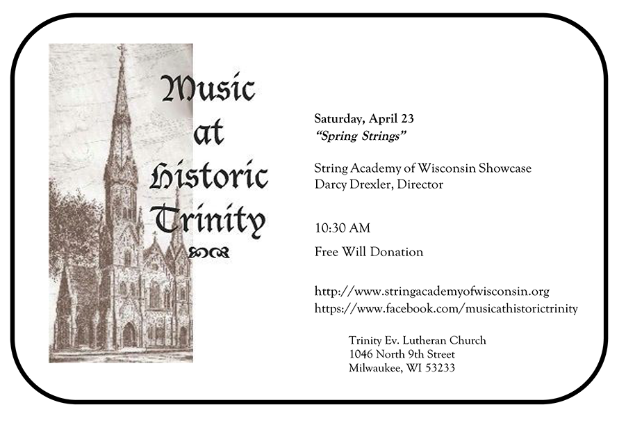 Trinity Lutheran Concert 2016