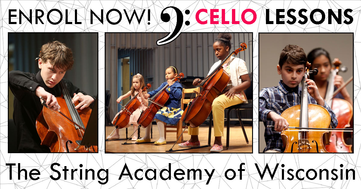 Register for Cello Lessons at the String Academy of Wisconsin
