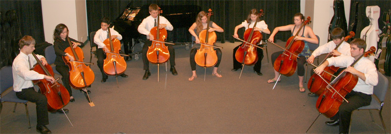 I Cellisiti perform at Cello Days at the University of Miami
