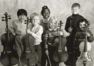 Young Cellists at the String Academy of WIsconsin