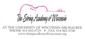 More Information at StringAcademyOfWisconsin.org